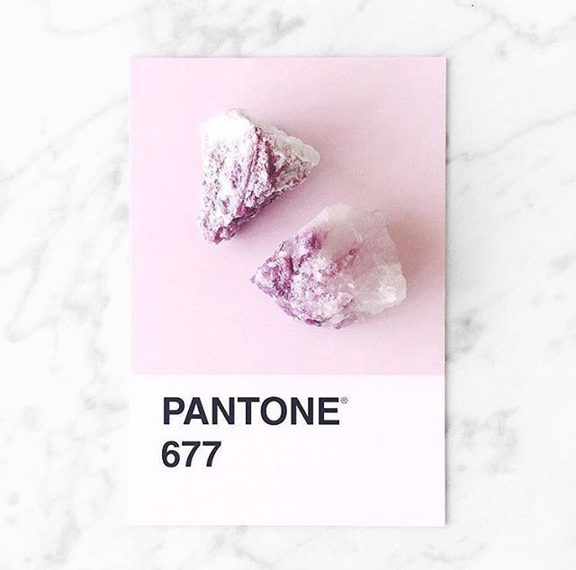 pink tourmaline is a beautiful match to Pantone 677. 💕 📷:@thelittlemoon___ Link in bio for more Pantone universe products. #pantone #pink #minerals #marble #minimal #vibes