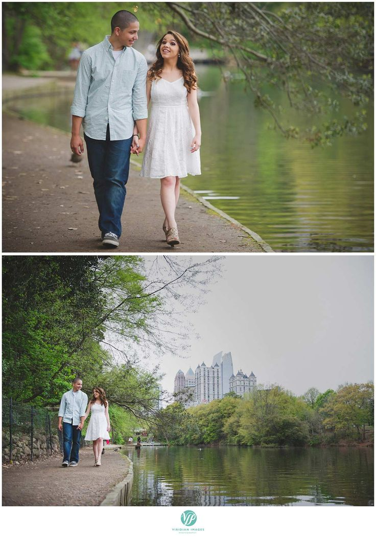 Piedmont park is a great place to take engagement photos in Atlanta with all the wide variety of shots that it can offer as you can see in this engagement photo session.