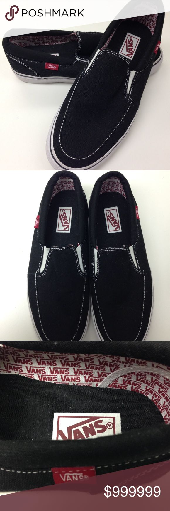 ⏰1 HR SALE⏰ Men's Vans Slip on Sneakers Never Worn Men's Vans Black slip on sneakers. Never worn. Slightly snug for 9. Vans Shoes Sneakers