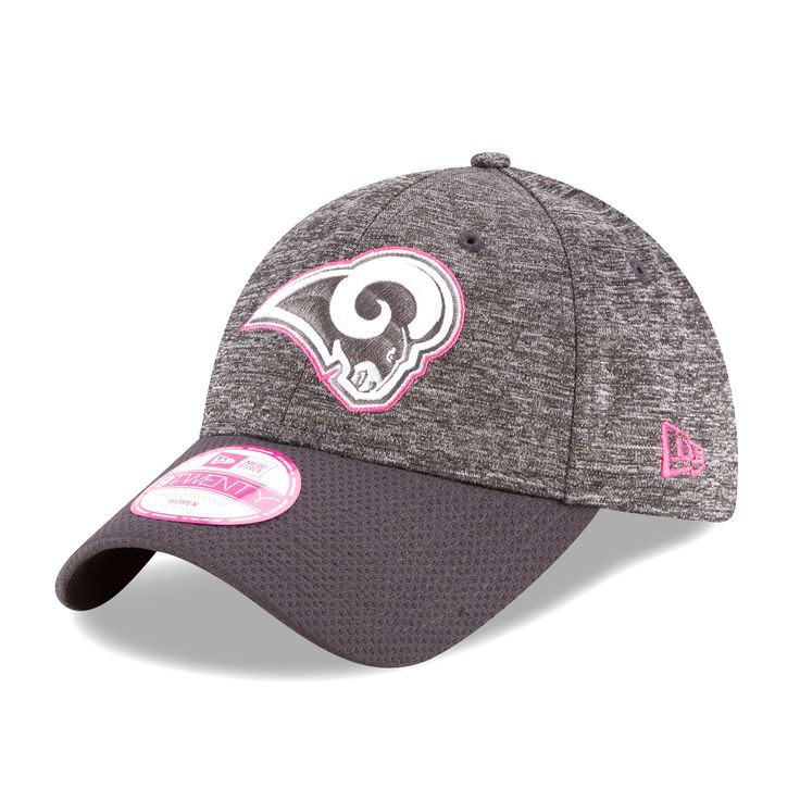 Los Angeles Rams New Era Women's 2016 Breast Cancer Awareness Sideline LS 9TWENTY Adjustable Hat - Heather Gray - $20.79