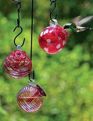 Droplet Hummingbird Feeders, Set of 3