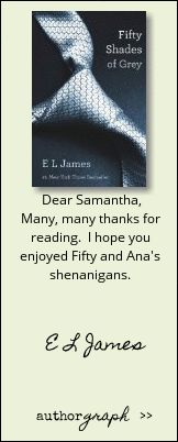 "Authorgraph from E L James for ""Fifty Shades of Grey"""