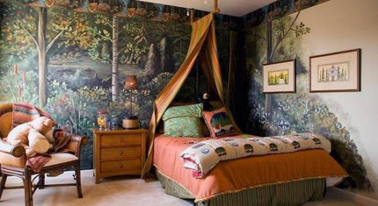 Safari little girls bedroom modern boys bedroom with for Forest themed bedroom ideas