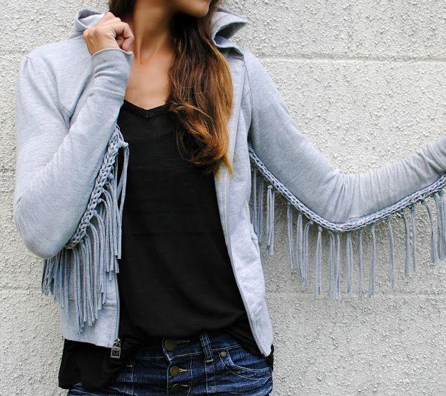 DIY woven fringe top