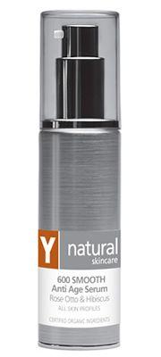 Y Natural Organic Skincare - 600 SMOOTH Anti Age Serum - 45ml