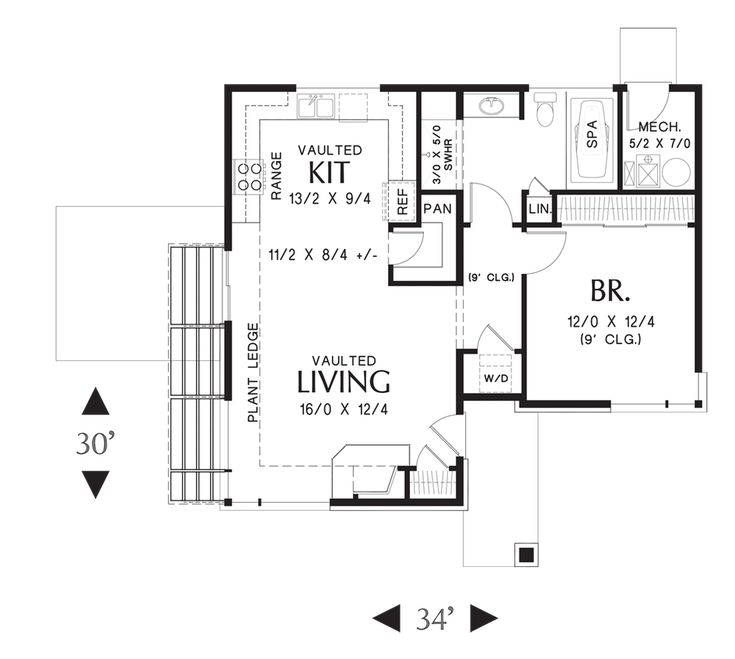 17 best images about house plans on pinterest small for Micro compact home floor plan