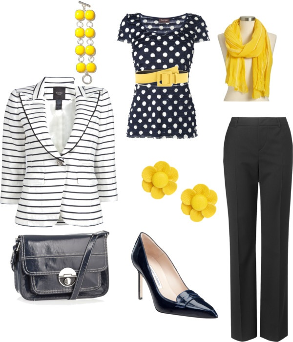 """Navy and Yellow"" by artisticblades on Polyvore: Stylin, Navy, Polyvore, Yellow, Artisticblad, Profile"