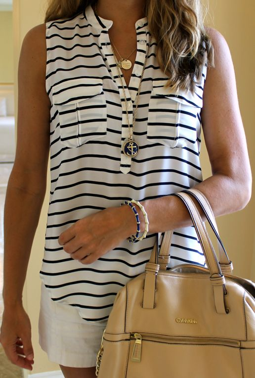 I wish I could bottle the elegance and ease of this... All Things Nautical — J's Everyday Fashion