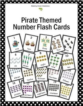 Flash Cards with Pirate Pictures