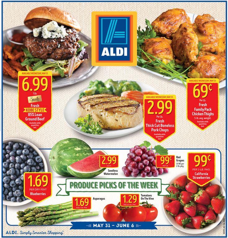 Aldi Weekly Ad May 31 - June 6, 2017 - http://www.olcatalog.com/grocery/aldi-ad.html