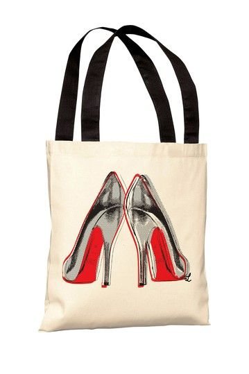 "Oliver Gal by One Bella Casa ""Fire in Your New Shoes"" Tote Bag by Lightning E-Commerce on @HauteLook"