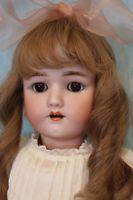 """Antique 24"""" Henrich Handwerck German Bisque Doll with Original Clothes Sleep eye"""