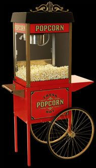 From the boardwalks of Coney Island and Palisades Park these antique styled popcorn machines will remind you of an era when vendors sold popcorn on street corners all across America. Sure to create a fun and friendly atmosphere in any location, these commercial quality popcorn machines are available as a counter-top model or with the matching trolley.