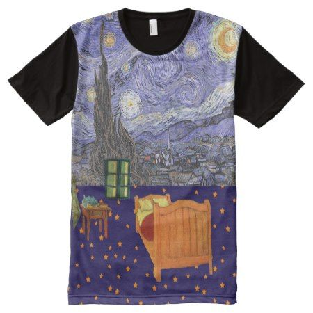 Van Gogh Starry Night Arles Bedroom T-Shirt - tap, personalize, buy right now!