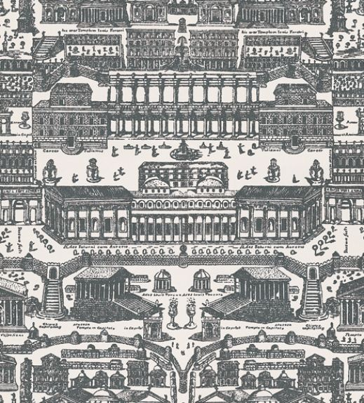Rome+(310074)+-+Zoffany+Wallpapers+-+A+beautiful+wallcovering+inspired+by+Rome's+architectural+legacy+showing+arenas+and+public+squares+in+Chalk/Charcoal.+Other+colour+ways+available.+Please+request+a+sample+for+true+colour+match.+Paste-the-wall+product.