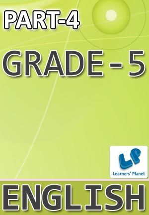 5-ENGLISH-PART-4 Interactive quizzes & worksheets on degrees of comparison of adjectives, sentence structuring, short forms, singular-plural, use of has-have-had, use of 's and using correct question words for grade-5 English students. Pattern of questions : Multiple Choice Questions   PRICE :- RS.61.00