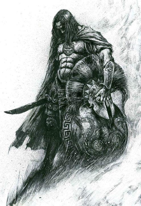 Spartan warrior by Leo Manco