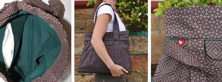 Chocolate Shweshwe tote bag