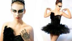 DIY Tutorial: DIY Women Halloween Costumes / DIY Black Swan Halloween Costume - Bead