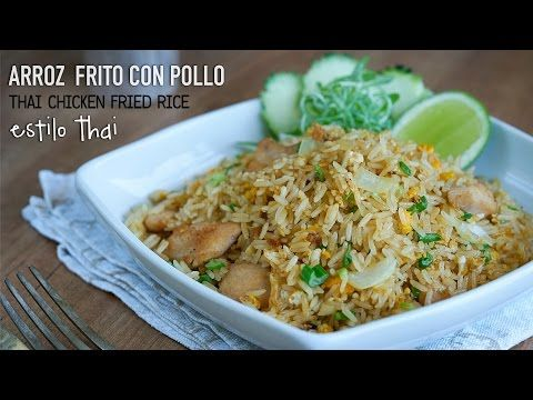 Arroz frito con langostinos estilo Thai - Thai Shrimps Fried rice (ข้าวผัดกุ้ง) - YouTube