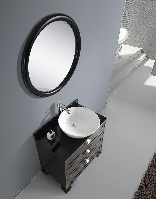 Beatrice svart 80 cm Badrumsmöbler