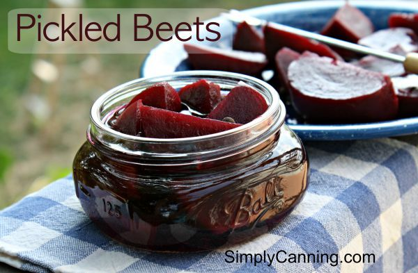 Pickled Beets.  An easy waterbath recipe.   Pickled beets are safe in the waterbath because of the vinegar.  Enjoy! http://www.simplycanning.com/pickled-beets.html