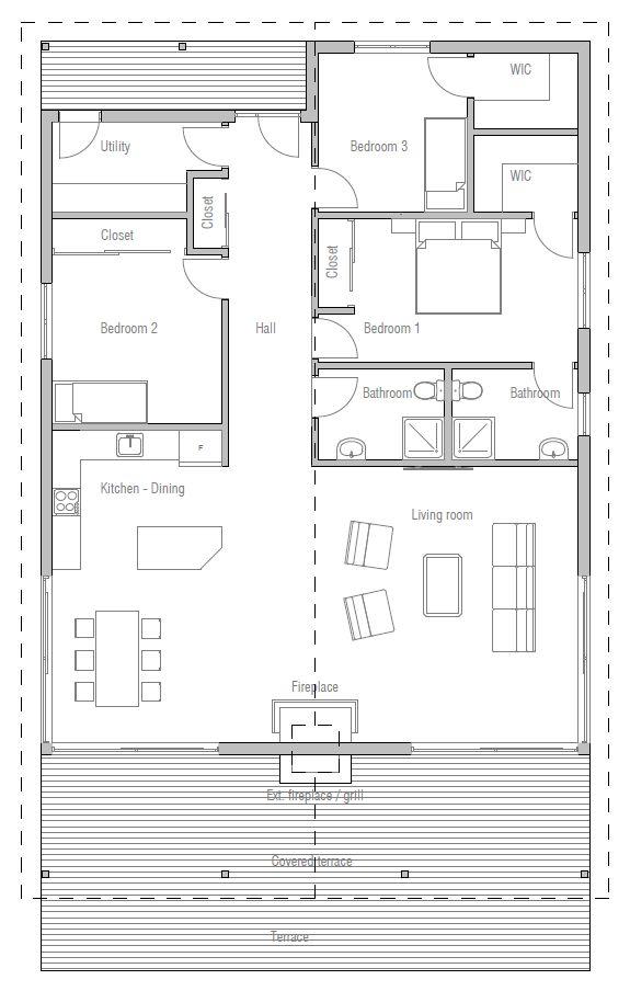 Meer dan 1000 idee n over bungalow plannen op pinterest for Www southernlivinghouseplans com