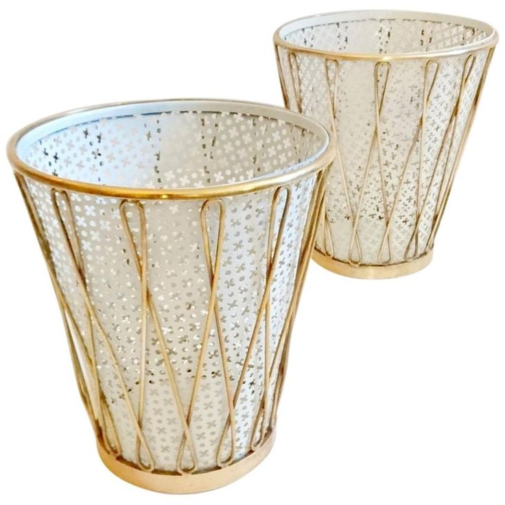 Mid-Century Waste Baskets in the Manner of Mathieu Mategot