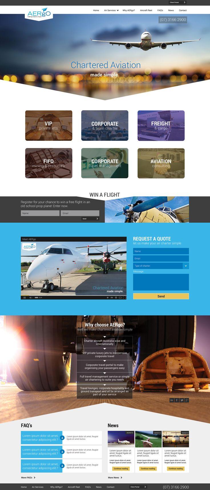Chartered plane website design
