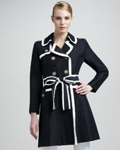 Spring 2012 Runway    Milly Contrast Trenchcoat: Contrast Trenchcoat, Trenchcoat 595 00, Stylish Coats, Contrasting Trend, Milly Contrast, Trench Coats, Runway Milly, Blue Contrast