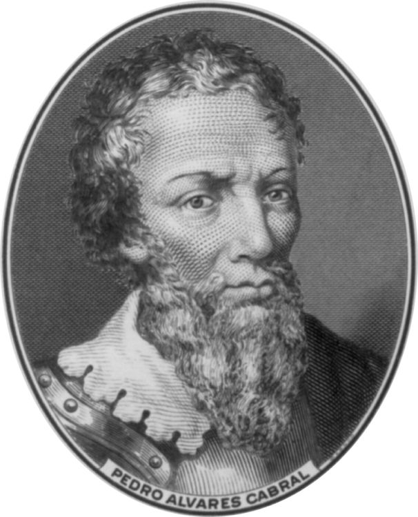Pedro lvares Cabral - steel engraving. Pedro Álvares Cabral led the first Portuguese expedition to reach what is now known as Brazil.    The 13 ships commanded by Cabral arrived on 22 April 1500.    It is often said that Cabral's expedition 'discovered' the land that is now Brazil. For many, the history of Brazil began that day.
