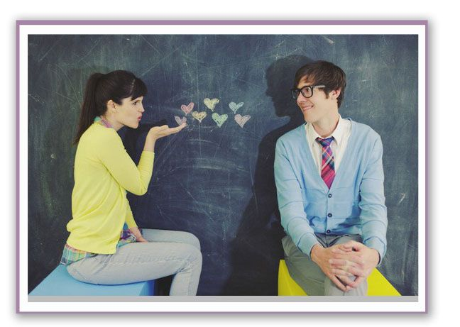 Chalkboard + Hearts = Adorable Photo