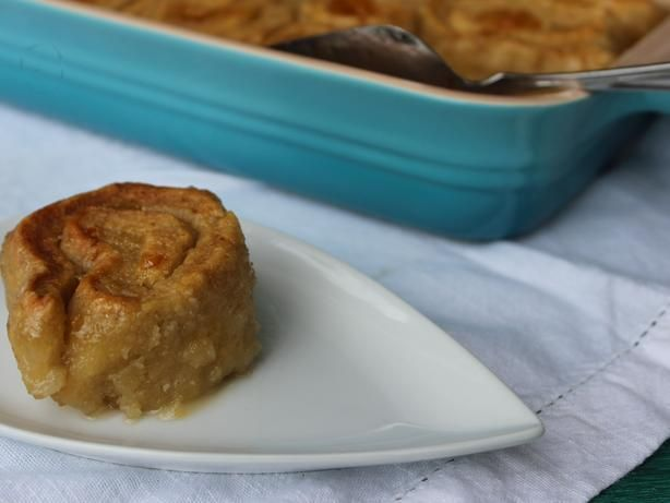 South African Roly-Poly Baked Dessert