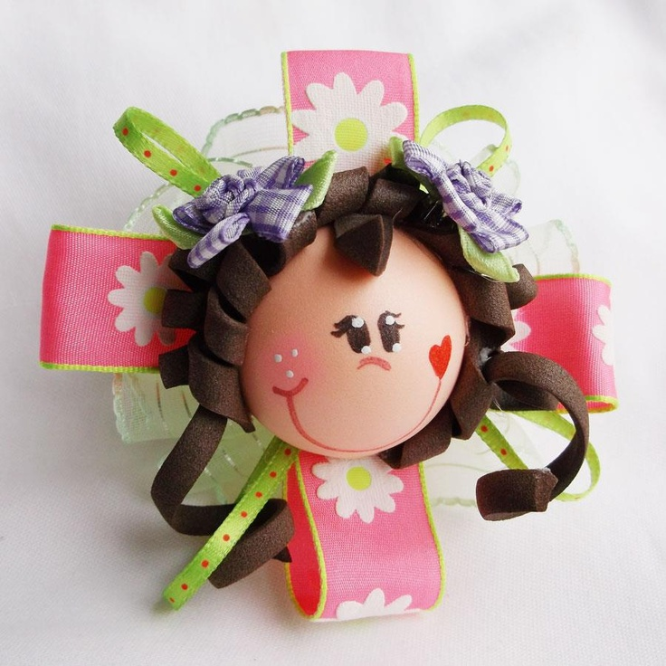 Fofucha Hair Barrette. Handcrafted with foamie, ribbon and more! www.fofuchasdolls.com