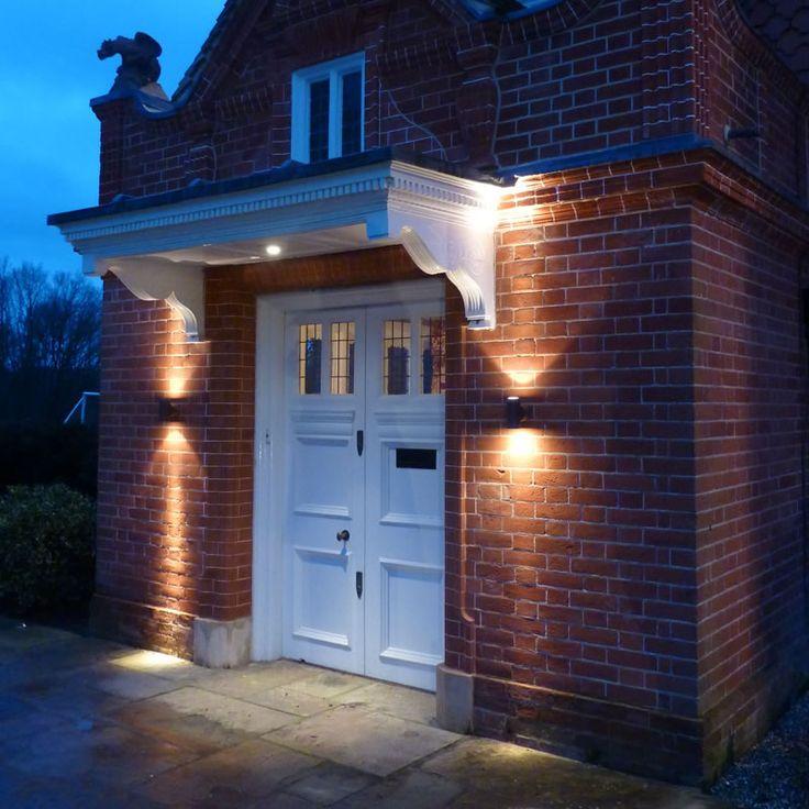 Garden Pillar Lights A Creative Symmetrical Lighting Display On Each Side Of A Front Door