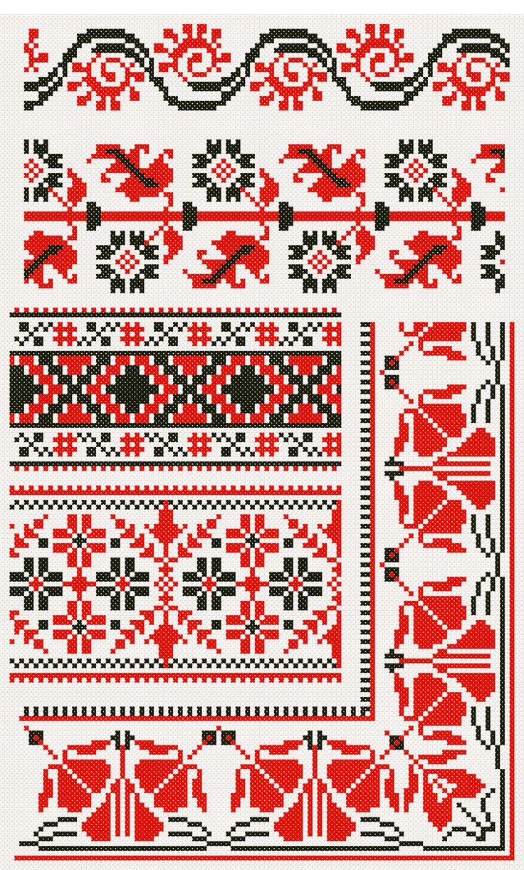 Cross Stitch - Black, Red and White - ispiration