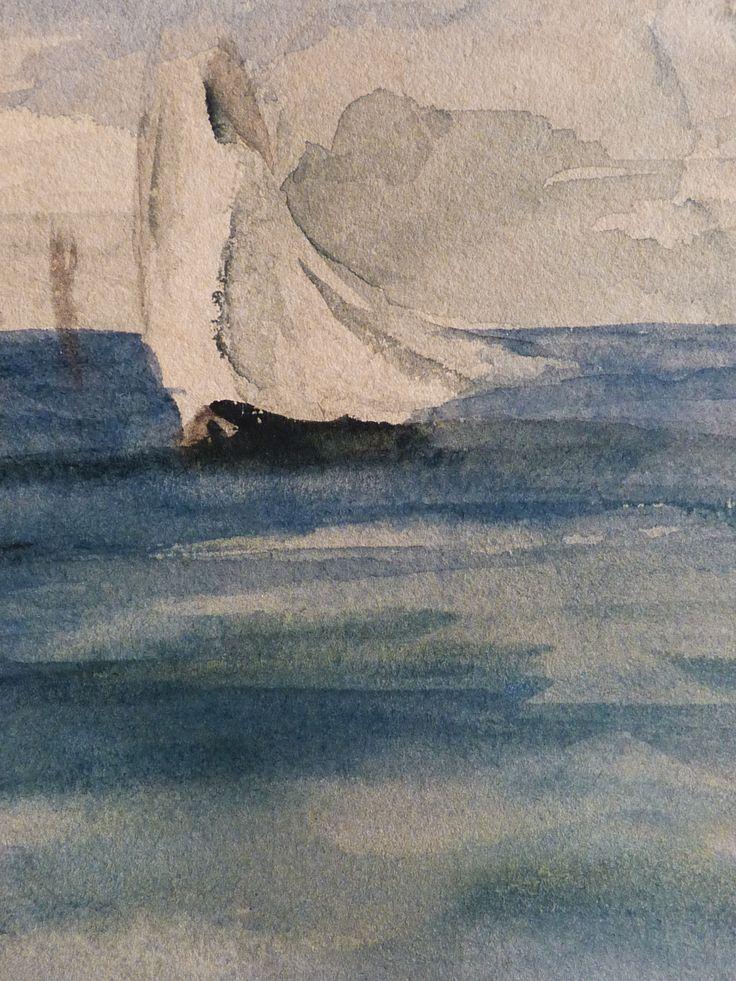 """MANET Edouard - Marine (drawing, dessin, disegno-Louvre RF31283) - Detail 13  -  TAGS / drawing dessin figure figures people art painter peintre details détail détails """"dessins 19e"""" """"19th-century drawing"""" croquis étude study sketch sketches painting paintings peinture peintures """"peinture 19e"""" """"19th-century paintings"""" """"19th century"""" """"details of painting"""" """"details of paintings"""" watercolour watercolor aquarelle seascape marine mer sea """"sea sight"""" sea ship boat blue bleu"""