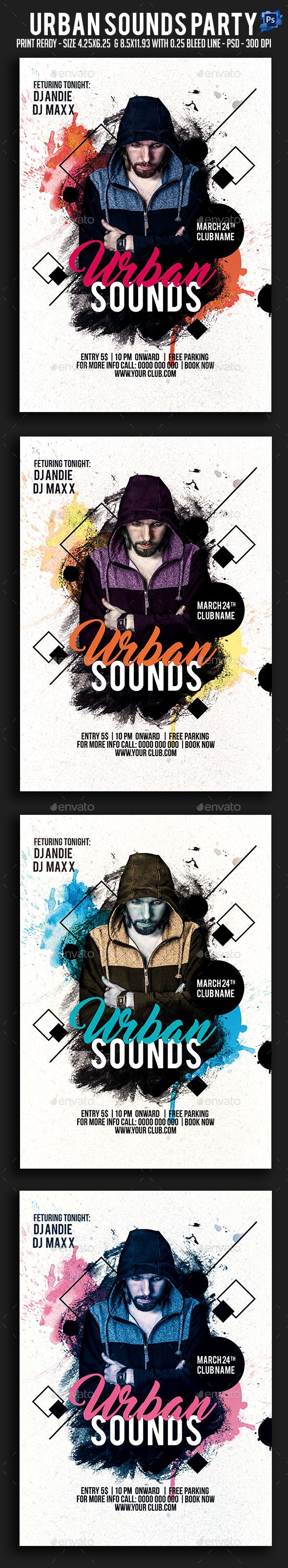 5s poster design - Urban Sounds Party Flyer