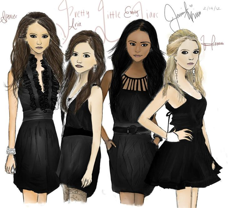 45 Best Pll Drawing Images On Pinterest Pretty Little