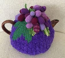 "NEW Handmade Tea Cozy ""I Love Grapes"" From Ukrainian Designer"