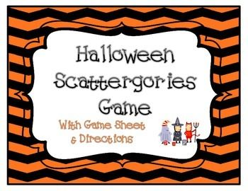 halloween game scattergories for grades 3 12 - Halloween Games To Play At School