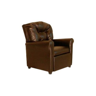 Dozy Dotes 4 Button Like Kids Recliner Color: Pecan Brown