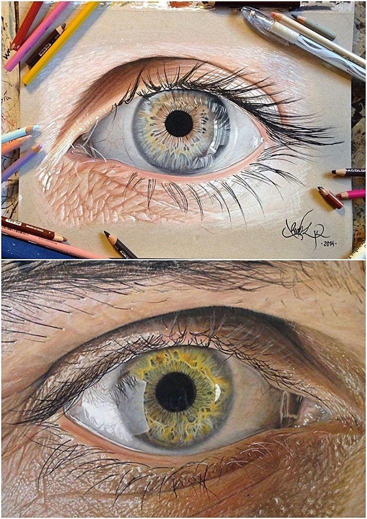 Retratar o olho humano em seus mínimos detalhes não é uma das empreitadas artísticas mais fáceis que existem. Só que para o ilustrador Jose Vergara, isso não é nenhum problema. Usando lápis de cor e canetas, ele cria olhos com uma perfeição indescritível.