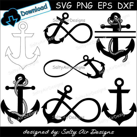 Anchor Digital Cut Files Bundle - Digital Files - Anchor SVG - Anchor DXF - Anchor EPS - Anchor png - Vector Anchor - Anchor Clipart #ad