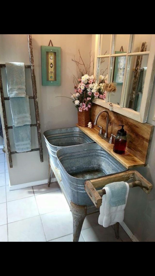 Rustic - For a country mud room or planting station