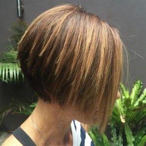 #Angled #bob #Cuts #Hairstyles #Layered #Short