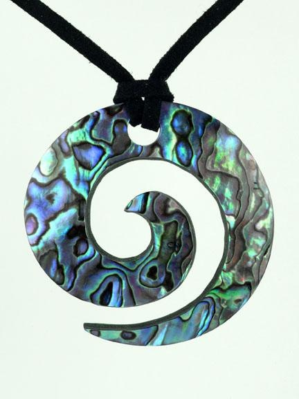 The Maori Koru design is inspired by the New Zealand fern frond unfurling as it grows. It represents peace, tranquility, personal growth, positive change and awakening.