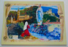 Large Lourdes sanctuary 3-D Apparition Picture.