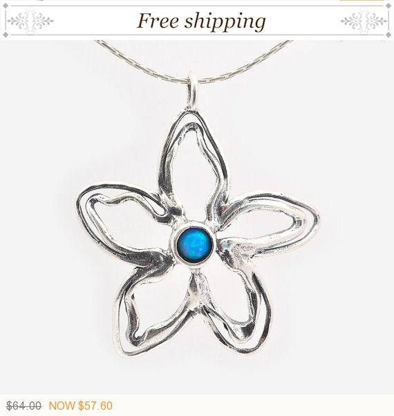 On SALE, Gift for her, Big flower Pendant, Opal #jewelry #necklace @EtsyMktgTool http://etsy.me/2a7H4MF