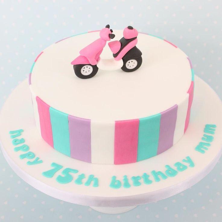 Little pink moped  #moped #pink #birthdaycake #reallyyummycakes #cakedesigner #bespokecakes #hampshirecakes #winchestercakes #cakes #winchester #hampshire #designercakes #designinspiration #designprocess